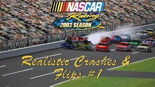 Download NASCAR Racing 2003 Realistic Crashes & Flips #1 Video