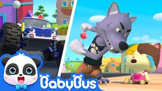 Download Bad Wolf Stole Baby Kitten's Lollipop | Super Panda Rescue Team | Monster Police Car | BabyBus Video