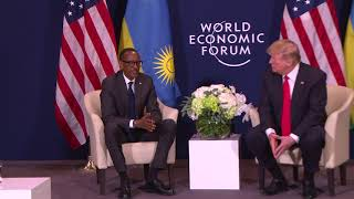 Download President Kagame meets with US President Donald Trump at World Economic Forum in Davos Video