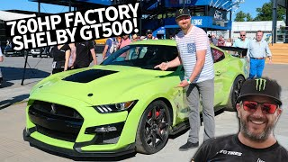 Download Most Powerful Street-legal Ford EVER! 760hp Ford Mustang Shelby GT500 Shredding w/Vaughn Gittin Jr. Video