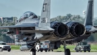 Download USAF Evacuates Fighter Jets In Front Of Hurricane Michael Video