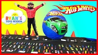 Download GIANT EGG HOT WHEELS Surprise Toys Opening with Disney Cars Video