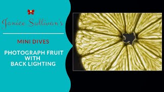 Download Photograph Fruit with Back Lighting Video