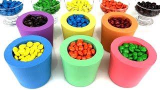 Download Aprenda Como Fazer Copo de Areia Cinetica Com Chocolate M&Ms Kinetic Sand Cançoes para Crianças Video