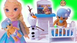 Download New Baby ! Disney Frozen Kids Queen Elsa + Anna Babysit ! Walk, Talk , Feed Doll Video