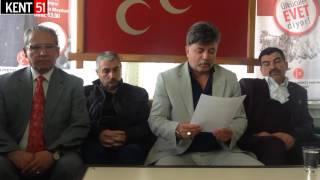 Download Milliyetçi Hareket Partisi Bor İlçe Başkanlığı Basın Acıklaması Video