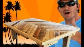 Download How to Build a Coffee Table out of Pallet Wood: Project 5 Paint/Distress/Antique Furniture Video