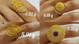 Download Stylish Gold Rings Designs With Weight Video