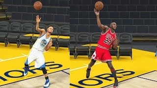 Download Who Can Make a Full Court Shot First? Stephen Curry vs Michael Jordan! NBA 2K17 Curry vs Jordan Video