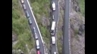 Download Trollstigen (Norway), mountain traffic, cycle race and thrilling nature... 30 June 2012 Video