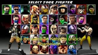 Download Mortal Kombat Quadrilogy: Unlock Cyber Sub-Zero, Chameleon and Khameleon Video