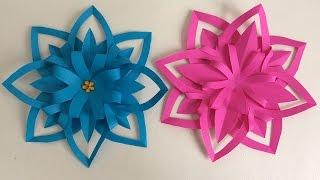 Download FLORES DE PAPEL. MANUALIDADES DE PAPEL. Paper flower. Video