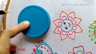 Download 5 Impressive Hand Embroidery Flower stitch:Unique Shadow Hand Embroidery Tutorial:Shadow work Video
