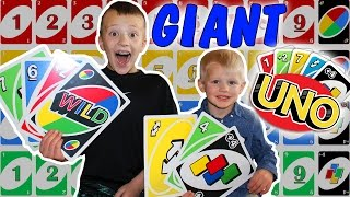 Download Giant UNO Cards!    Family Game Night    World's Largest UNO with Family Fun Pack Video