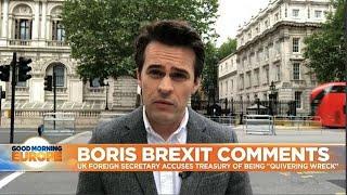 Download Brexit: Boris Johnsons calls UK treasury 'quivering wreck' Video