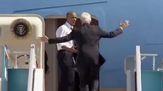 Download Obama Yells at Bill Clinton to Get on Air Force One Video