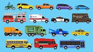 Download Learning Street Vehicles for Children - Learn Cars, Trucks, Fire Engines, Garbage Trucks, & More Video