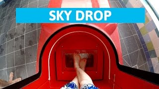 Download Plopsaqua De Panne - Sky Drop! || Extreme Trapdoor Water Slide [NEW] Video