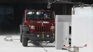 Download Crash test Small Overlap IIHS - Jeep Wrangler Video