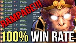 Download 100% Win Rate! Best Monkey King Mid vs Invoker Rampage by OG.Ana 9k MMR Dota 2 Video