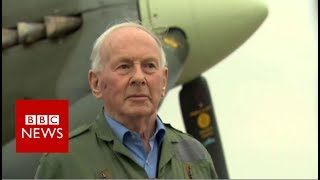 Download Luftwaffe ace flies in Spitfire - BBC News Video
