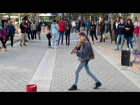 Let me love you (DJ Snake) - Violin Street Performance by Karolina Protsenko