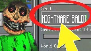 Download NEVER Play Minecraft NIGHTMARE BALDIS BASICS WORLD! (Haunted ″Baldi's Basics in Education″ Seed) v2 Video