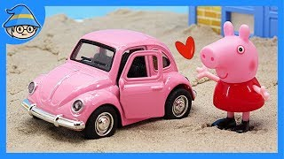 Download peppa pig has got a pink car toy! Where do you want to go by car? Video