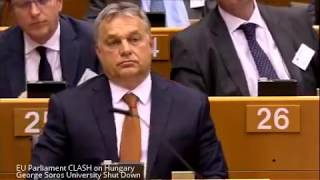Download EU Parliament CLASH on Hungary George Soros University Shut Down Video