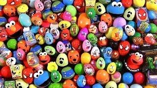 Download Huge 105 Huevos Sorpresa Pocoyo PeppaPig MonsterHigh Disney Frozen Play-Dough Cookie Monster Cars Video