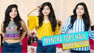 Download Myntra Tops Haul| Under ₹500 | College Lookbook Video