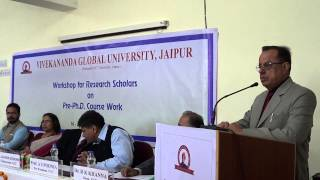 Download Inaugural speech in ″Workshop for Research Scholars″ in VIT Campus, Jaipur. Video