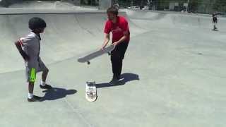Download LIVE SKATE SUPPORT OLLIE OVER A SKATEBOARD! Video