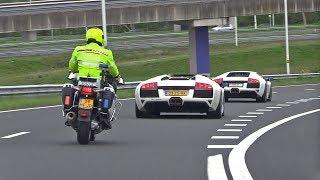 Download Dutch Cop Hates Lamborghini Murcielago LP640 w/ Straight Pipes Fi Exhaust Video