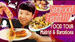 Download FRESH SEAFOOD FEAST! Food Tour Madrid & Barcelona Video