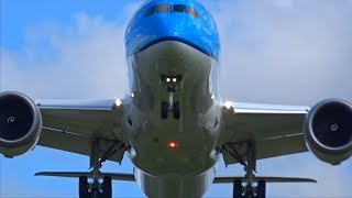 Download ″Storm at Amsterdam Schiphol″ close overhead landings at Buitenveldertbaan RWY 27 Sturmtief Video