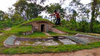 Download Building more swimming pool for greatness underground house ( Hobbit House ) Video