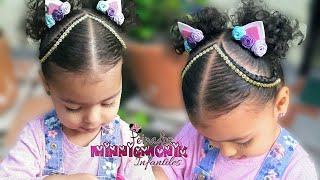 Download Peinados para niña -*trenzas dos cola oreja de unicornio* Video