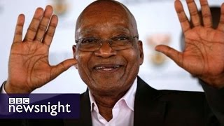 Download Is South Africa getting fed up with President Jacob Zuma? BBC Newsnight Video