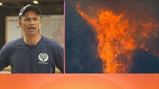 Download Kiwi firefighter discusses the 'extremely dangerous' California wildfire his team is battling Video