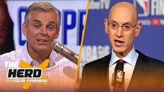 Download Colin discusses Adam Silver's pro-player missteps & how KD's decision reflects them | NBA | THE HERD Video