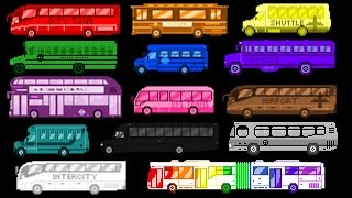 Download Bus Colors - Street Vehicles - The Wheels on the Bus - The Kids' Picture Show (Fun & Educational) Video