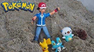 Download Pokemon !「砂場でピカチュウがさらわれた」Newisland「お出かけ砂場遊びセット」のレビュー Video
