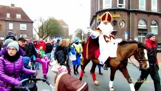Download Sinterklaas reitet durch Emder Innenstadt Nikolaus zu Pferd Santa riding his horse East Frisia Video