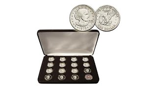 Download Susan B. Anthony Dollars Entire 16Coin Mint Set Video