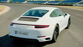 Download 2017 White Porsche 911 Carrera 4 GTS - Awesome Drive 450 hp Video