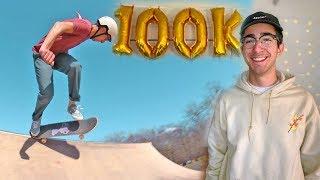 Download HITTING 100K SUBSCRIBERS! 🍾–Skate Vlog Video