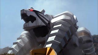 Download Tiger Zord and Tiger Drill Megazord Debut Fight | Power Rangers Samurai Video