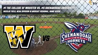 Download 2018 NCAA Division III Baseball Mideast Regionals: Wooster vs. Shenandoah (Game Seven) Video