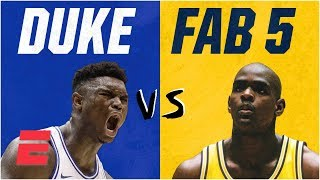 Download Duke freshmen vs. Fab Five: How Zion Williamson's squad compares on & off court | College Basketball Video